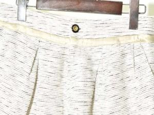 ダルデベール DUL DE VERRE パンツ ショートパンツ キュロット リネン混 36 ホワイト系 170811 レディース ベクトル【中古】