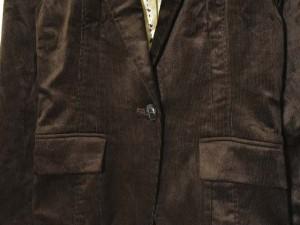 ノウビーンズ KNOW BEANS ジャケット コーデュロイ 1B 茶  11AR 171025T宇 レディース ベクトル【中古】