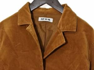 クレドソル CLEF DE SOL ジャケット コーデュロイ テーラード 長袖 ブラウン M 171012R 宇 レディース ベクトル【中古】