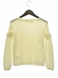 ユニバーバル ミューズ UNIVERVAL MUSE ニット セーター 長袖 リボン装飾 ボトルネック アイボリー 171017c レディース