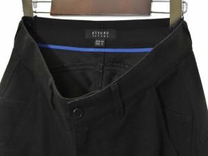 アツロウタヤマ ATSURO TAYAMA パンツ テーパード ポリエステル 36 黒 ブラック 171016R メンズ