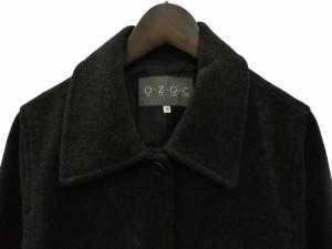 オゾック OZOC ステンカラー コート ジャケット Aライン 38 チャコールグレー 宇 レディース
