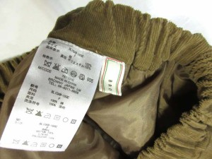 ブラウニー BROWNY キュロット ショートパンツ コーデュロイ ブラウン 茶 F レディース ベクトル【中古】