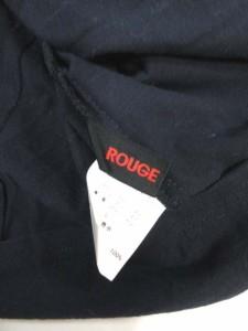 ルージュマジック ROUGE MAGIC カットソー フリル ノースリーブ ネイビー L レディース
