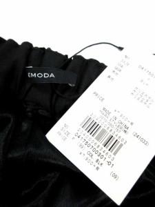 エモダ EMODA 17AW ベロア パンツ ワイド 黒 F 041750700301 レディース ベクトル【中古】