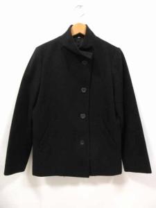無印良品 良品計画 コート スタンドカラー ウール シングル 黒 S レディース ベクトル【中古】