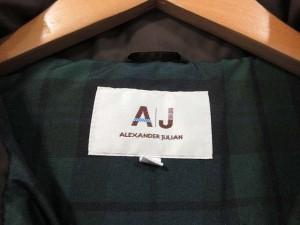 アレキサンダージュリアン ALEXANDER JULIAN 中綿コート フード ファー 茶 L レディース ベクトル【中古】