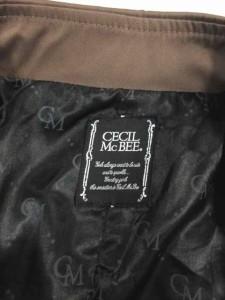 セシルマクビー CECIL McBEE トレンチコート ブラウン ショート丈 F レディース ベクトル【中古】