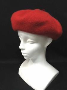 オリーブデオリーブ OLIVE des OLIVE ベレー帽 ウール 赤 レディース ベクトル【中古】