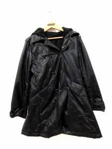 コムサイズム COMME CA ISM ナイロン コート フード パーカー 2way キッズ 黒 130 レディース ベクトル【中古】