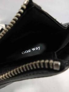 未使用品 ワンウェイ one way ショートブーツ キルティング 黒 シルバー ハイヒール L レディース