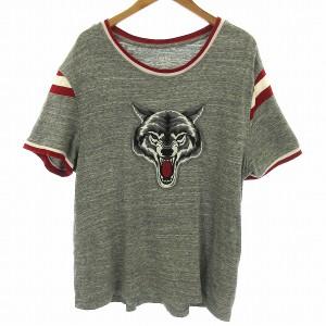 c6936c5236562 ギャップ GAP Tシャツ 半袖 ライン ワッペン グレー XL メンズ