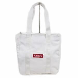 【中古】シュプリーム SUPREME 美品 20AW CANVAS TOTE BAG キャンバス トートバッグ ショルダー ボックスロゴ 白