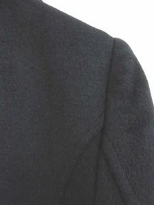 ビアッジョブルー Viaggio Blu トレンチコート ジャケット アンゴラ ウール混 ロング 黒 ブラック 2 ★★ レディース ベクトル【中古】