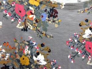 ユニクロ UNIQLO EPICE エピス Tシャツ カットソー 半袖 ボートネック 花柄 グレー M ☆☆ レディース ベクトル【中古】
