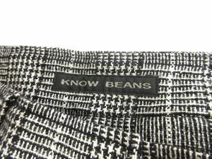 ノウビーンズ KNOW BEANS ショートパンツ ハーフ ウール シルク混 ツイード チェック 白黒 38 ※OA 161027 レディース ベクトル【中古】