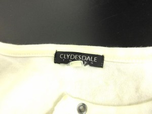 CLYDESDALE Tシャツ ロゴ プリント 長袖 カットソー 白 M ※OA 161101 レディース ベクトル【中古】