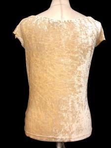 プロポーション ボディドレッシング PROPORTION BODY DRESSING カットソー 半袖 ベロア ビーズ ベージュ系 3 ※HM 161202 レディース