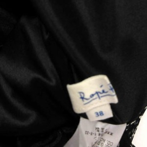 ロペピクニック ROPE Picnic ワンピース 半袖 ひざ丈 異素材 ドット 茶 黒 38 ※ET 170626 レディース