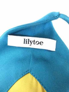 リリィトゥ lilytoe ワンピース ひざ丈 サテン 緑 1 ※AI 170818 ベクトル【中古】