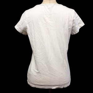 ボッシーニ bossini Tシャツ カットソー 半袖 犬 星 白 M ※HM 170829 レディース