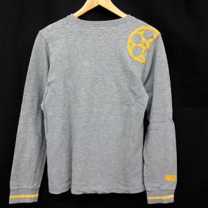 ナイキ NIKE Tシャツ 長袖 スウェット ロンT グレー 黄 M ※ET 171114 メンズ