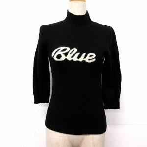 バーバリーブルーレーベル BURBERRY BLUE LABEL ニット セーター 長袖 ウール M 黒 ※SK 171214 レディース