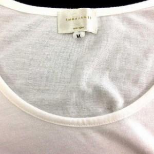 エマジェイムス EMMAJAMES Tシャツ カットソー 長袖 プリント リボン 白 M ※HM レディース ベクトル【中古】