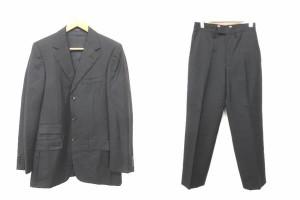 fa8dfdde2cc3 グッチ GUCCI セットアップ スーツ ジャケット パンツ シングル ウール ピンストライプ 46 黒 ブラック 190116 メンズ ベクトル