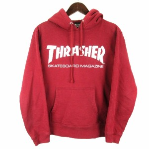 【中古】スラッシャー THRASHER パーカー プルオーバー ロゴプリント S ボルドー 210510O ※OIM メンズ