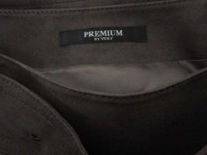 プレミアム バイ ビッキー PREMIUM BY VICKY スカート タック プリーツ フェイクスエード ベルト 2 茶 ブラウン  レディース