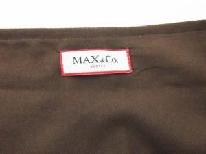 マックス&コー MAX&CO. スカート ロング 総柄 サイド スリット 40 茶 ブラウン レディース ベクトル【中古】