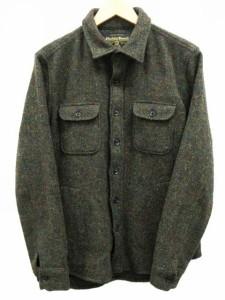 シンプリシテェ SIMPLICITE シャツジャケット CPOシャツ ウール ハリスツイード 100周年 100th カーキ オリーブ 40 ベクトル【中古】