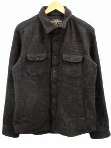シンプリシテェ SIMPLICITE シャツジャケット CPO Harris Tweed ハリスツイード 100周年 ウール グレー カーキ系 42 ベクトル【中古】