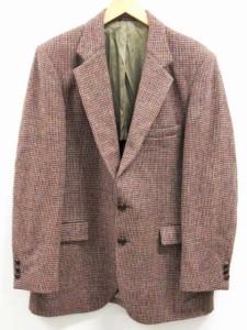 STAFFORD スタッフォード Harris Tweed ハリスツイード テーラードジャケット ブレザー ウール 2ボタン シングル 茶 ベクトル【中古】