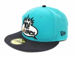 ニューエラ NEW ERA 59FIFTY MTV YO RAPS TEEL キャップ ベースボールキャップ 帽子 エムティービー ブルー 323277fa7ba2