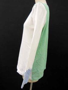 ネネット Ne-net 長袖 カットソー Tシャツ ロンT 白 水色 グリーン 2 S-16091414 【中古】 ベクトル【中古】