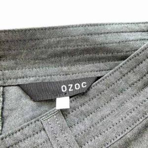 オゾック OZOC パンツ ロングパンツ ストレートパンツ スラックス グレー 38 ※M-17052416 レディース ベクトル【中古】