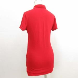 ラルフローレン RALPH LAUREN ポロシャツ 半袖 ビックポニー ストレッチ 赤 レッド S O-17072821 レディース ベクトル【中古】
