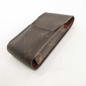 ルイヴィトン LOUIS VUITTON M63024 CT1011 モノグラム エテュイ シガレット シガレットケース 煙草 タバコケース ブラウン O-17101104