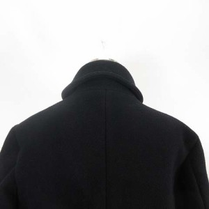 エディフィス EDIFICE メルトン ショールカラー コート ウール ブラック 黒 40 TH M-171207 レディース ベクトル【中古】