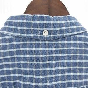 ビームス BEAMS シャツ 長袖 チェック ボタンダウン ブルー L S-18020802 □ メンズ ベクトル【中古】