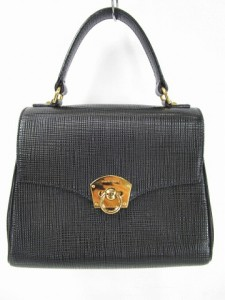 マリクレール MARIE CLAIRE ハンド バッグ レザー 革 ブラック 黒 バッグ 鞄 Y-180422 レディース ベクトル【中古】