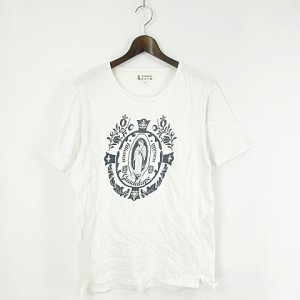 020a9778dd52 チチカカ titicaca Tシャツ カットソー 半袖 ロゴ プリント L 白 ホワイト トップス KYー190508 メンズ
