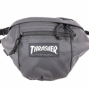 【中古】スラッシャー THRASHER ボディ バッグ ウエスト ポーチ ナイロン ブラック 黒 アウトドア ストリート カバン 鞄 thrpn-3900 YK-1