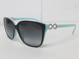 ティファニー TIFFANY & CO. サングラス TF4111-B-F 眼鏡 アイウェア ビジュー インフィニティ ロゴ 水色 57□16 0125 レディース