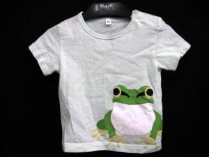 無印良品 良品計画 Tシャツ カットソー プリント カエル ミントグリーン 80 ベビー 子供服 170726MM ベクトル【中古】