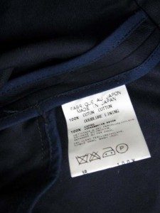ナショナルスタンダード National Standard トレンチ コート コットン エルボーパッチ ネイビー 紺 171022MM● レディース