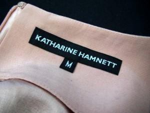 キャサリンハムネット KATHARINE HAMNETT ワンピース ノースリーブ スクエアネック ウール混 ピンク M 171003OK● レディース