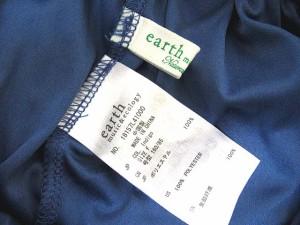 アースミュージック&エコロジー EARTH MUSIC & ECOLOGY デニム ライク チュール スカート ミモレ丈インディゴ F 171011OK レディース
